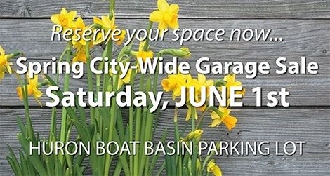 Reserve Your Space – City Wide Garage Sale June 1st – Huron Chamber